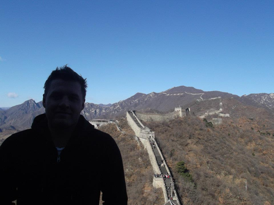 Only picture I have of myself at the Great Wall of China. Was by myself and freezing.