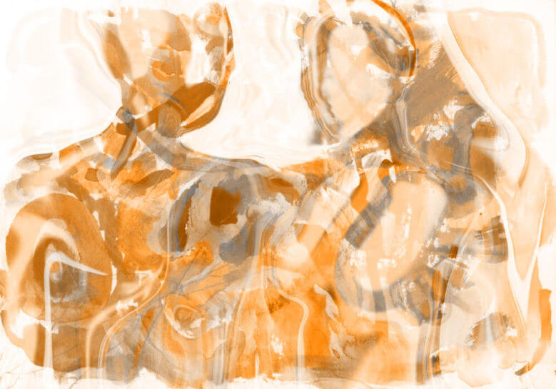 Abstract painting of a couple