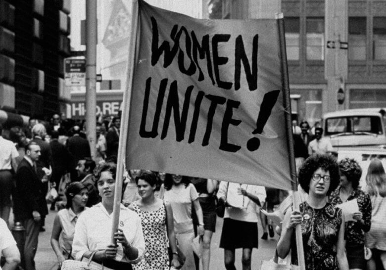 Whats the problem with feminism mark manson women unite 1960s womens rights protest fandeluxe Image collections