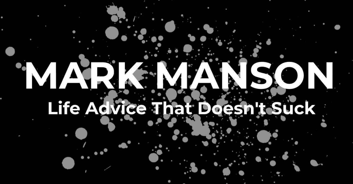 mark manson ismerkedés blog