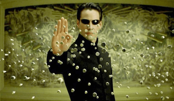 The Matrix - Neo stopping bullets