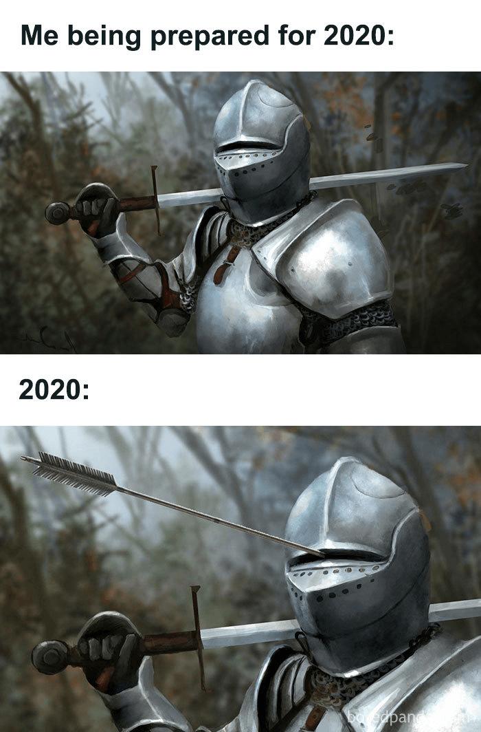 Armor meme - lessons from 2020